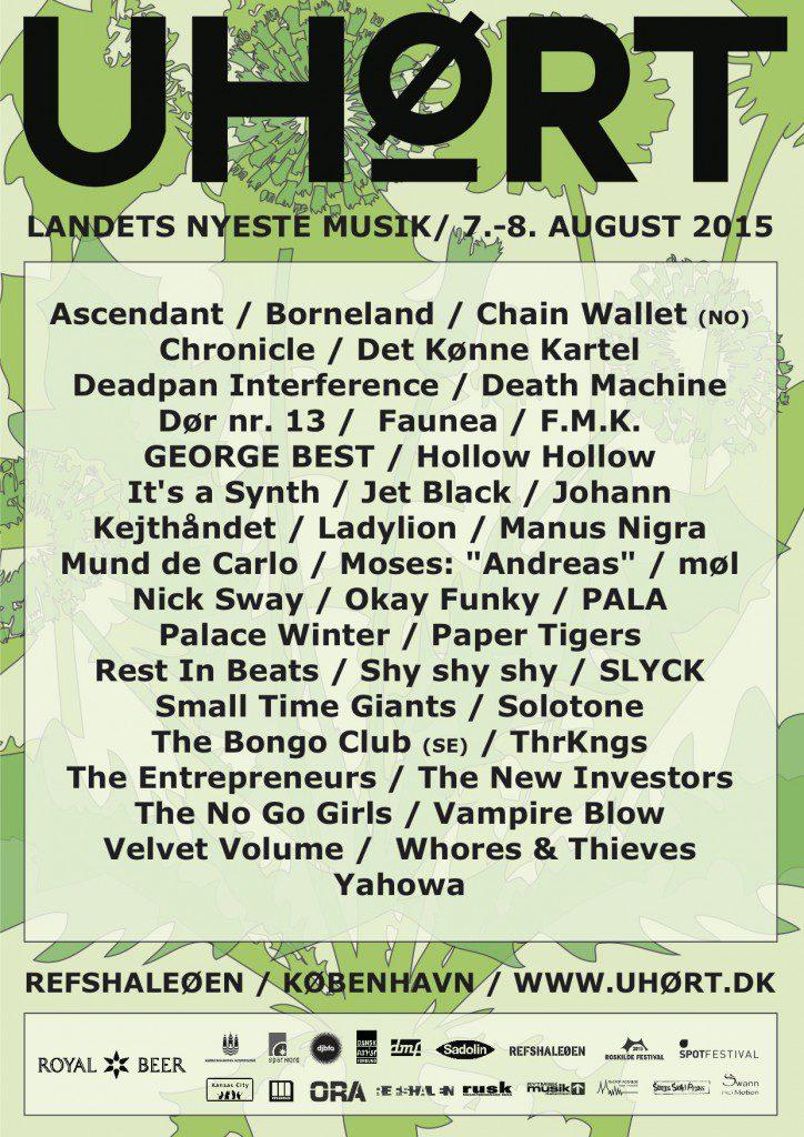 UHØRT Festival plakat line-up